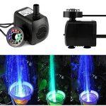 1164/5000 15W 700L / H Pompe à eau submersible avec 12 LED couleur LED pour fontaine Piscine Eau de jardin Réservoir de poissons Aquarium Eau de la marque Shineus image 2 produit