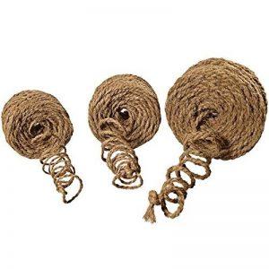 3 KIT corde en noix de coco fil en noix de coco attache arbre ficelle de jardinage ruban de jardin en fibres de noix de coco 100% en fibres naturelles (3-KIT = 1 rouleau par genre (3 x 50 m) de la marque Grosshandel & Direktimport Thekla Fuhrmann image 0 produit