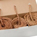 3 x 25 m Cordage de coco - 3 couleurs naturelles dans le rouleau - Corde-coco: cordon de jardin marron | Corde-marron 100% à base de fibres naturelles de la marque Humusziegel image 3 produit