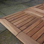 72x dalles de terrasse en bois dur + 8Stright Bords. Le célèbre Click-deck Bois d'acacia pour terrasse, jardin, balcon, jacuzzi. 30cm carré Deck pour carrelage de la marque Click-Deck Products image 4 produit