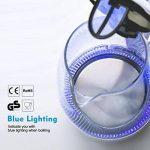 Aigostar Eve 30GON - Bouilloire électrique en cristal avec illumination LED, capacité de 1,7 litres, puissance de 2200W, sans BPA et système de protection contre l'ébullition à sec. Design exclusif. de la marque Aigostar image 1 produit