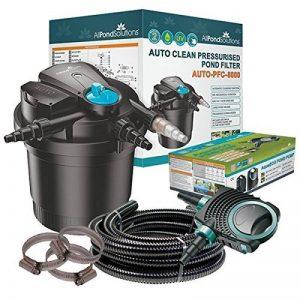 All Pond Solutions Kit de filtration pour bassin koi avec filtre sous pression auto-nettoyant et stérilisateur UV Kit tout en un 8000 L/h de la marque All Pond Solutions image 0 produit