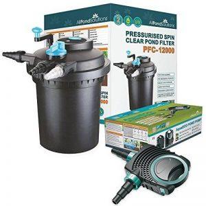All Pond Solutions Kits avec filtre pressurisé pour bassins à koïs et stérilisateur UV – Tout en un – Pour étangs jusqu'à 50000L (PFC-12000-KIT) de la marque All Pond Solutions image 0 produit