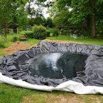 Bâche pour bassin Bâche pour bassin de jardin 0,5 mm noir Bâche pour le bassin de jardin Construction de bassin 10 m de long, noir 6 m de large de la marque Aquagart image 4 produit