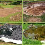 Bâche pour bassin Bâche pour bassin de jardin 0,5 mm noir Bâche pour le bassin de jardin Construction de bassin 8 m de long, noir 6 m de large de la marque Aquagart image 3 produit