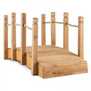 Blumfeldt Pont de jardin décoratif 58x58x122 cm (câblage bois massif, traitement anti-intempéries, rambarde en cordage de 1,5 cm, idéal pour les étangs) de la marque Blumfeldt image 0 produit