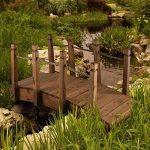 Blumfeldt Pont de jardin décoratif 58x58x122 cm (câblage bois massif, traitement anti-intempéries, rambarde en cordage de 1,5 cm, idéal pour les étangs) de la marque Blumfeldt image 2 produit