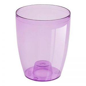 Cache pot a orchidees Coubi violet transparent 16 cm de la marque Prosperplast image 0 produit