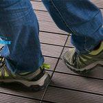 Carreaux de sol WPC clipsables BodenMax® Dalles de terrasse en bois naturel à emboîter Lot de 8 dalles 30 x 30 cm, noir anthracite de la marque BodenMax image 4 produit