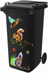 Classic Sign & Design Stickers pour poubelle à roulettes Motifs forestiers de la marque Inconnu image 0 produit
