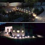 CroLED® 10x Lampe de Spot Encastrable LED pour Terrasse Enterré Plafonnier - En Aluminium 0.6W IP67 DC12V Blanc Chaud Etanche + Alimentation - Lampe Extérieur Déco Pour Chemin Bassin Piscine de la marque CroLED image 3 produit