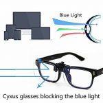 Cyxus (2 Pack) Filtre à lumière bleue Clip-on Ordinateur Lunettes de lecture, lentille transparente UV Blocking Anti Eye Strain lunettes unisexe de la marque Cyxus image 1 produit