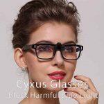 Cyxus (2 Pack) Filtre à lumière bleue Clip-on Ordinateur Lunettes de lecture, lentille transparente UV Blocking Anti Eye Strain lunettes unisexe de la marque Cyxus image 3 produit