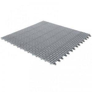 Dalles flexibles en plastique 55,5 x 55,5 cm pour intérieur, extérieur et jardin, Gris, drainant et autobloquante 4 pièces de la marque multiplate image 0 produit