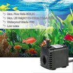 Decdeal Pompe à Eau Submersible 600L / H 8W pour les Fontaines de Table Aquarium Pond Water Gardens et Hydroponic Systems avec 2 Buses de la marque Decdeal image 4 produit