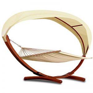 Deuba Hamac 2 personnes 100% coton avec Cadre en bois et toit - Jardin Extérieur de la marque Deuba image 0 produit