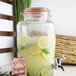 """'Distributeur de boisson """"Original 5l aspect verre, Vintage distributeur d'eau distributeur de jus Robinet Couvercle, bocal avec clip en métal de la marque Rayw. image 1 produit"""