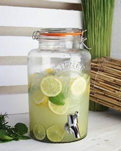 """'Distributeur de boisson """"Original 5l aspect verre, Vintage distributeur d'eau distributeur de jus Robinet Couvercle, bocal avec clip en métal de la marque Rayw. image 0 produit"""