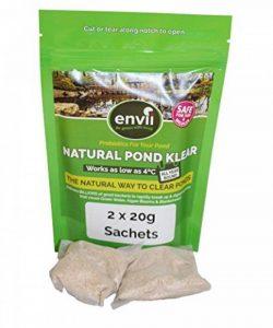 Envii Natural Pond Klear - Nettoyeur Pour Bassin Qui Élimine L'eau Verte et Traitement Qui Débarrasse Des Algues (Traite 20 000 Litres) de la marque Envii image 0 produit