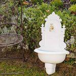 Fontaine murale de jardin avec vasque - style antique - aluminium - motif grappe de raisin - blanc de la marque aubaho image 1 produit