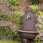 Fontaine murale de jardin avec vasque - style antique - aluminium - motif grappe de raisin - marron de la marque aubaho image 3 produit