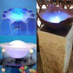 Fuloon 12 LED Multicolore Feux De Brouillard / Brumisateur / Diffuseur avec AC Adapteur pour Fontaine Aquarium de la marque Fuloon image 3 produit