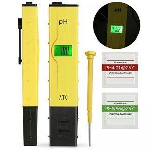 GantPower 0.05pH Haute Précision pH-Mètre avec ATC et LCD Rétroéclairé, Notice Détaillée en Français, Résolution 0,01pH, Testeur pH Numérique Portable, Jaune de la marque GantPower image 0 produit