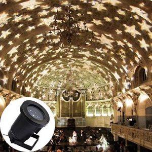 GAXmi LED Lumière d'inondation Imperméable Blanc chaud Patron d'étoiles Lumières de paysage Intérieur Éclairage pour Jardin Pelouse Noël Vacances de la marque GAXmi image 0 produit
