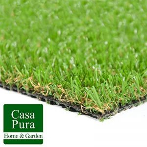 Gazon artificiel casa pura® Oxford | pelouse synthétique pour terrassse, balcon etc. | tailles au mètre | poids 1800g/m² - stabilisé UV selon DIN 53387 | 100x133cm de la marque casa pura image 0 produit