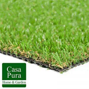 Gazon synthétique casa pura® Oxford | pelouse synthétique pour terrasse, balcon etc. | tailles au mètre | poids 1800g/m² - stabilisé UV selon DIN 53387 | 200x200cm de la marque casa pura image 0 produit