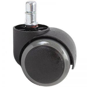 Giosedio lot of 5 roulettes dures pour chaise de bureau 11 mm / rouleau 50 mm roulettes pivotantes pour sols durs avec surface lisse et lisse gris de la marque Giosedio image 0 produit