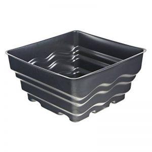 Heissner Bac carré préformé pour fontaine Noir 58 x 58 x 30cm de la marque Heissner image 0 produit
