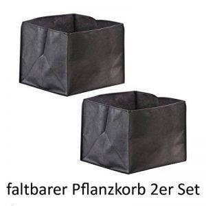 Heissner TZ132-00 Lot de deux bacs à plantes pliables 25 x 25 x 20cm de la marque Certikin International Ltd image 0 produit