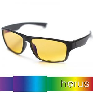 ⭐ [Horus®] - Lunettes anti lumière bleue GAMING | Filtre le plus puissant du marché > 95% | Anti fatigue Gamer (TV, ordinateur, écrans...) / Sommeil amélioré de la marque Horus X image 0 produit