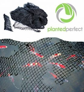 HOUSSE NETTE DE 4.5 M x 6 M - La piscine à installation facile et le filet en nylon Fishpond protègent les poissons, les étangs et les koïs des oiseaux et des feuilles - Les housses de sécurité durables et transparentes gardent les jolis jardins d'arrière image 0 produit