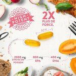 Huile de poisson Omega 3 [ 2000 mg ] par Aava Labs - Extra fort - Distillée moléculairement pour pureté et fraîcheur - 800 mg d'AEP et 400 mg d'ADH par dose journalière - Sans OGM, gluten ni produits laitiers - 120 gélules. de la marque Aava Labs image 2 produit