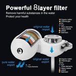 JTD Système de filtration sur robinet pour purifier l'eau, 8 couches, pour filtrer l'eau potable de votre robinet de cuisine et éliminer le chlore, le fluorure, les bactéries, virus, produits chimiques, pesticides et le calcaire, facile à installer de la image 2 produit