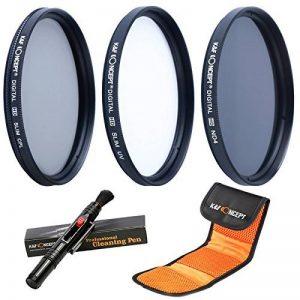 K&F Concept® 52mm Filtre Polarisant circulaire + Filtre Protecteur + Filtre gris neutre ND4 de la marque K&F CONCEPT image 0 produit