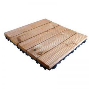 Kingfisher FT100 Lot de 9dalles en bois pour terrasse - Bois naturel de la marque Kingfisher image 0 produit