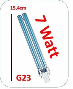 Lampe UVC bassin G2311W Compatible F. T.I.P. PMA 16000UV 1325,5cm de long 7 Watt transparent de la marque Unbekannt image 0 produit