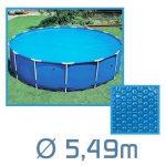 Linxor France ® Bâche à bulles ronde, ovale ou rectangle 180 microns pour piscine intex ou autre... / 26 tailles disponibles / Norme CE de la marque Linxor image 1 produit