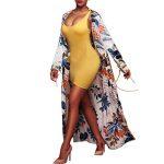 Long Manteau Femme Cardigan, Mode et Chic Femmes ete Floral Imprimer Beachwear Kimono Bikini Boho Cardigan Châle Tops, Kimono de plage Casual Cardigan Ba Zha Hei de la marque Ba Zha Hei Femme image 1 produit
