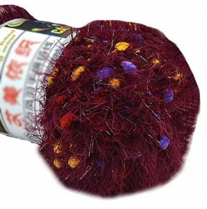 Lot de 3 tricotée Couleur Point Yarns Foulard tissées à la main doux velours Yarns, Vin rouge de la marque Blancho image 0 produit