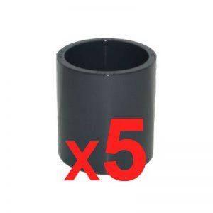 Lot de 5 Manchons à coller Pvc pression diam. 63 de la marque PISCINEO image 0 produit