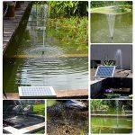 LUXJET Pompe à Eau Solaire de 5W Fontaine de Jardin Solaire avec Débit Maximum 380L/H de la marque LUXJET image 1 produit