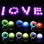 MAVIE 10pcs 13 Couleurs Submersible Imperméable LED Flammes Lumière de Bougie avec 2 Télécommande pour Mariage/Fête d'anniversaire/Piscine/Vase de la marque MAVIE image 6 produit