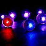 MAVIE 10pcs 13 Couleurs Submersible Imperméable LED Flammes Lumière de Bougie avec 2 Télécommande pour Mariage/Fête d'anniversaire/Piscine/Vase de la marque MAVIE image 4 produit