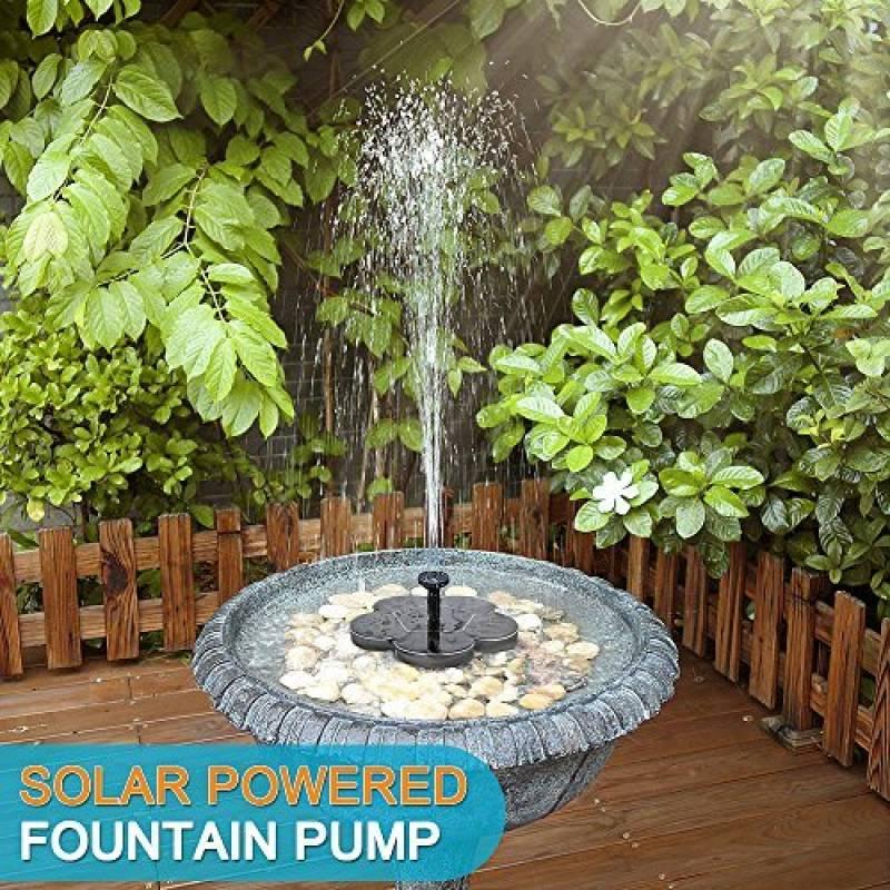 Flottant Energie Solaire Fontaine de Jardin étang pour baignoire oiseaux Réservoir Smart