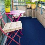 Moquette d'extérieur casa pura® bleu au mètre | tailles au choix | tapis type gazon artificiel - pour jardin, terrasse, balcon etc. | revêtement de sol outdoor | 300x200cm de la marque casa pura image 4 produit
