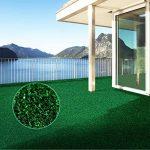 Moquette d'extérieur casa pura® Spring vert au mètre | tapis type gazon artificiel - pour jardin, terrasse, balcon etc. | revêtement de sol outdoor | 150x200cm de la marque casa pura image 3 produit